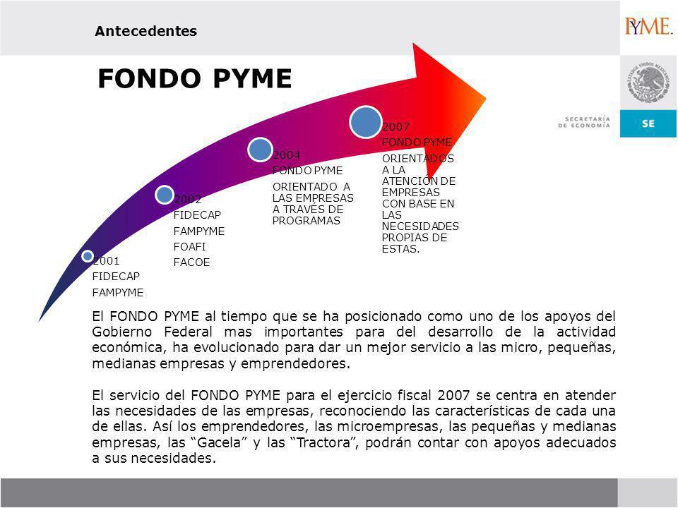 FONDO PYME Antecedentes