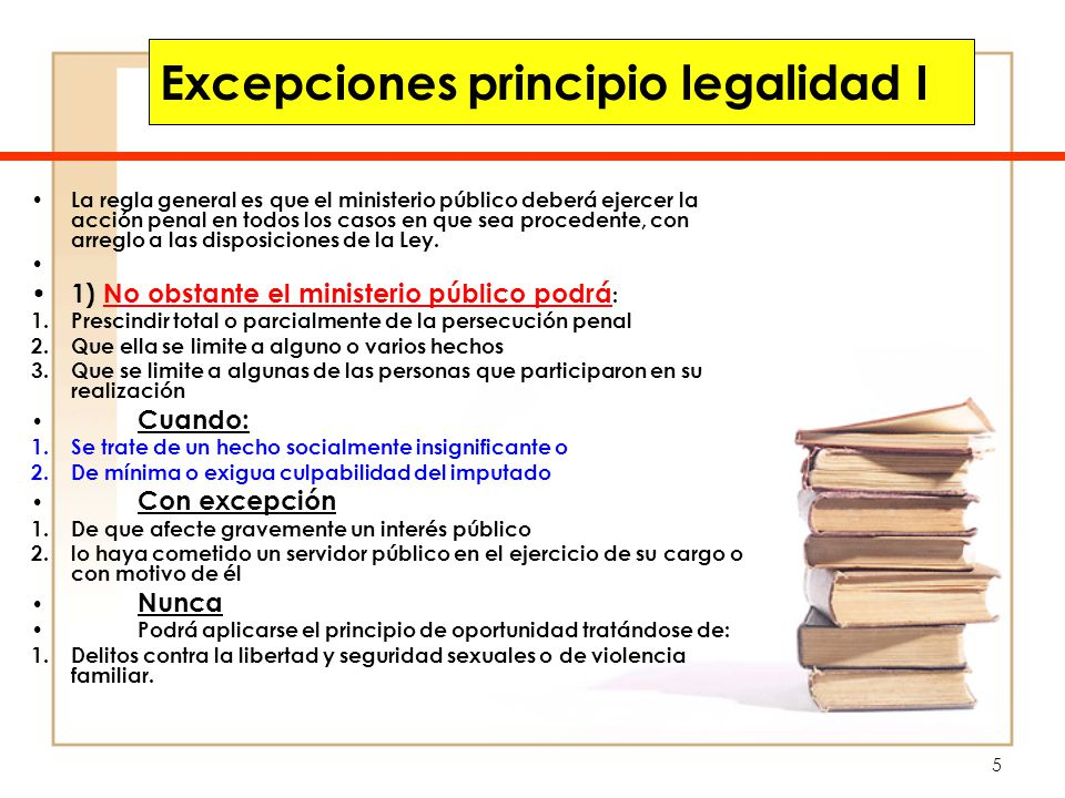 Excepciones principio legalidad I