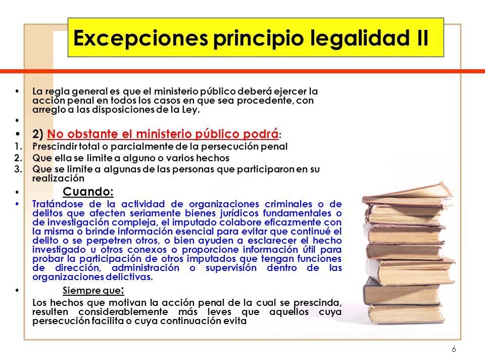 Excepciones principio legalidad II