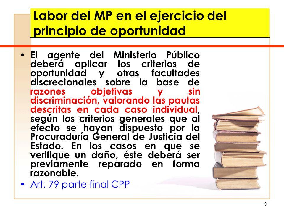 Labor del MP en el ejercicio del principio de oportunidad