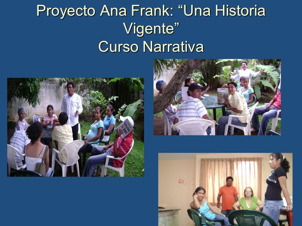 Proyecto Ana Frank: Una Historia Vigente Curso Narrativa