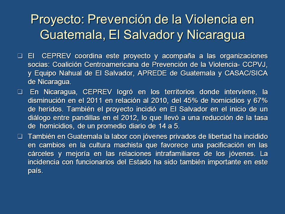 Proyecto: Prevención de la Violencia en Guatemala, El Salvador y Nicaragua