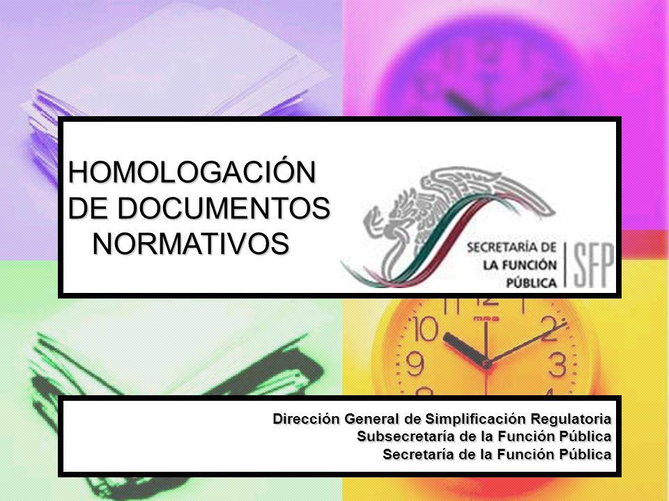 HOMOLOGACIÓN DE DOCUMENTOS NORMATIVOS