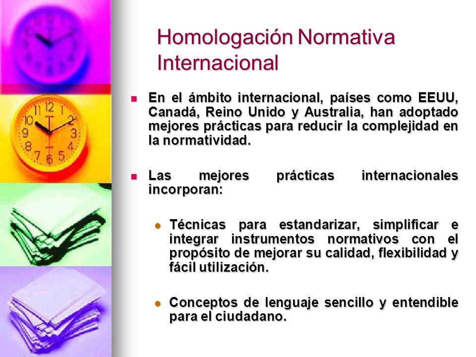 Homologación Normativa Internacional
