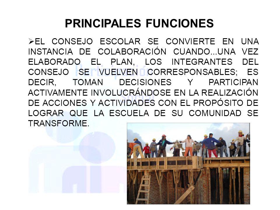 PRINCIPALES FUNCIONES