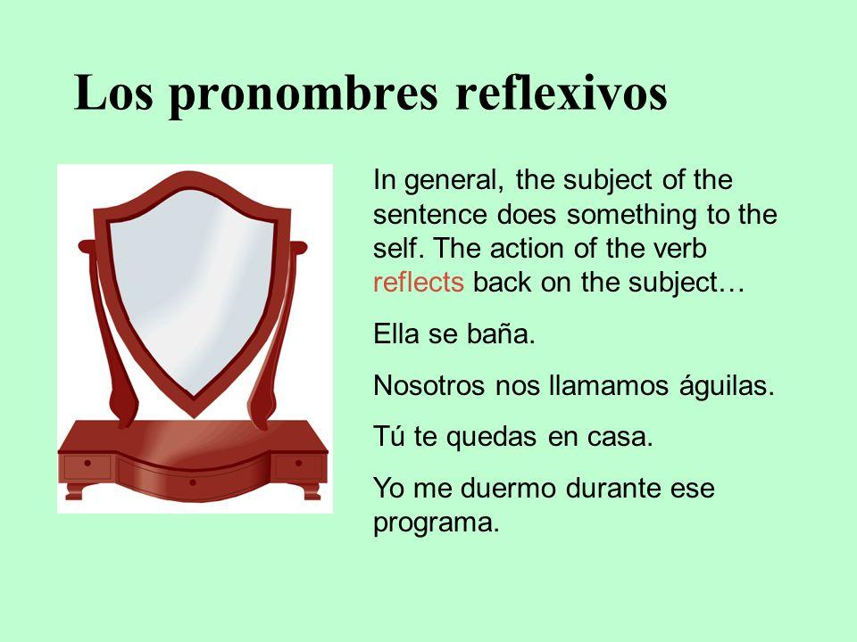 Los pronombres reflexivos