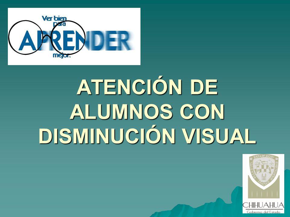 ATENCIÓN DE ALUMNOS CON DISMINUCIÓN VISUAL