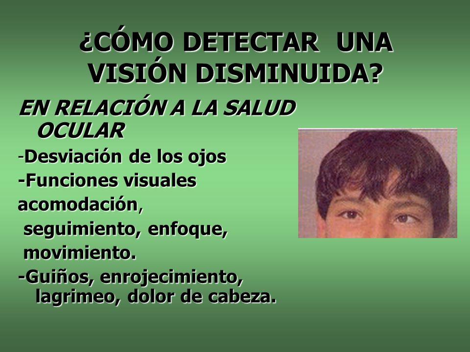 ¿CÓMO DETECTAR UNA VISIÓN DISMINUIDA