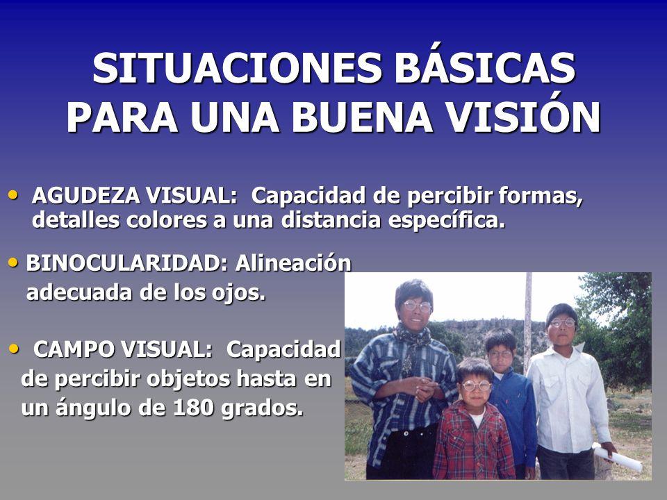 SITUACIONES BÁSICAS PARA UNA BUENA VISIÓN