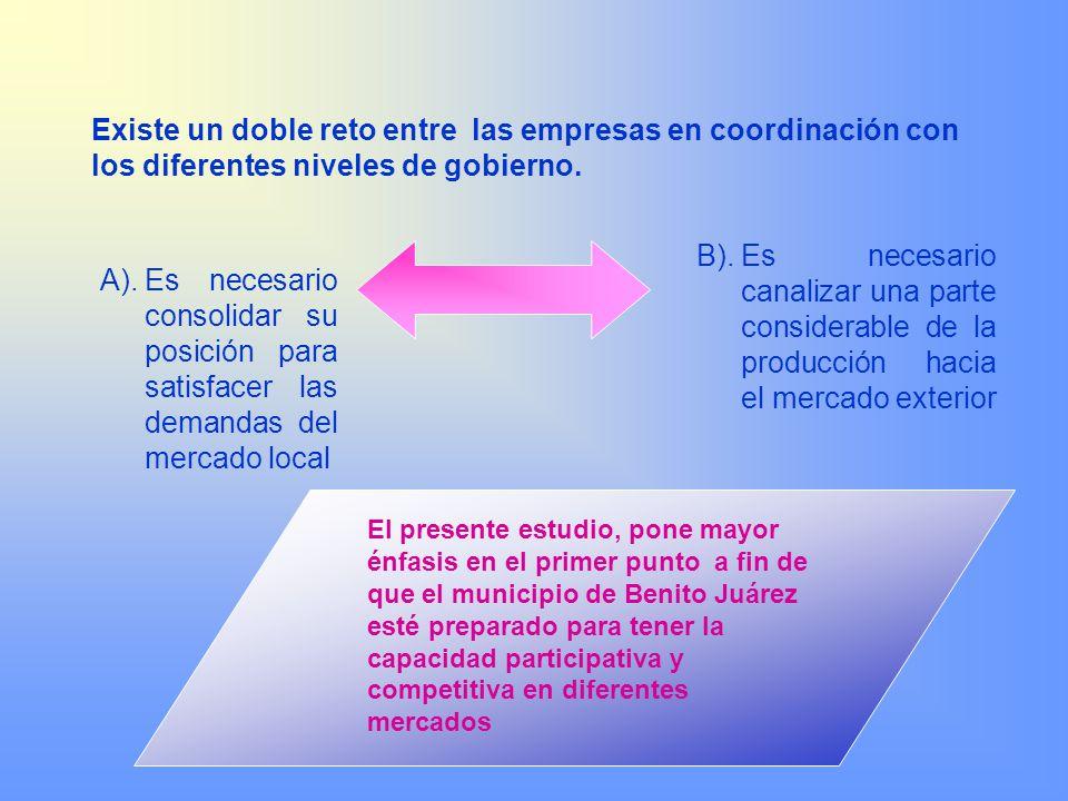 Existe un doble reto entre las empresas en coordinación con los diferentes niveles de gobierno.