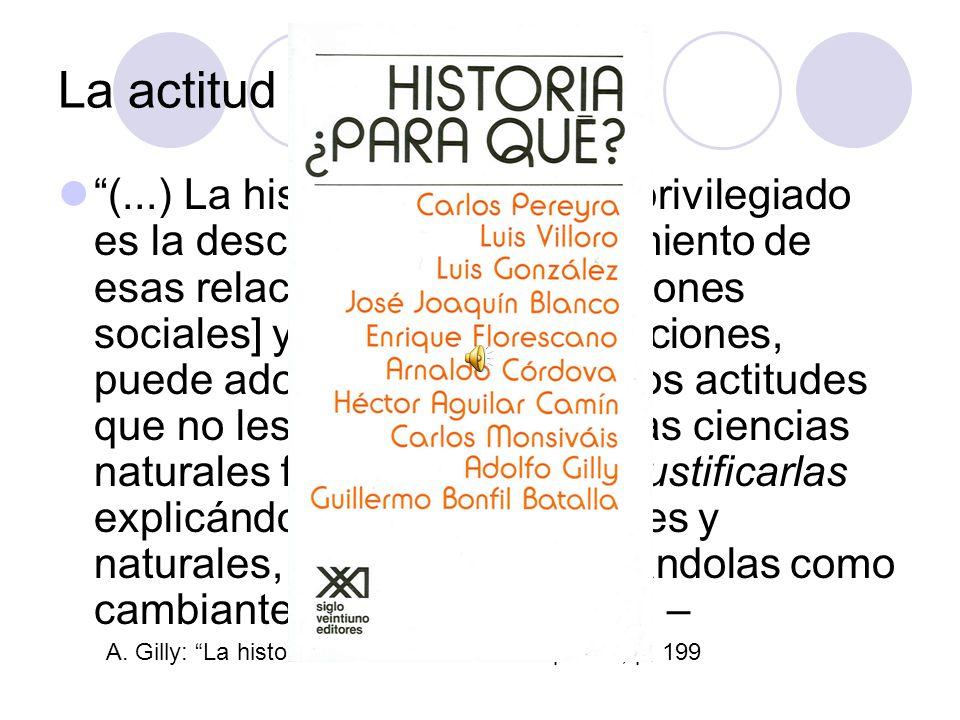 La actitud de la historia