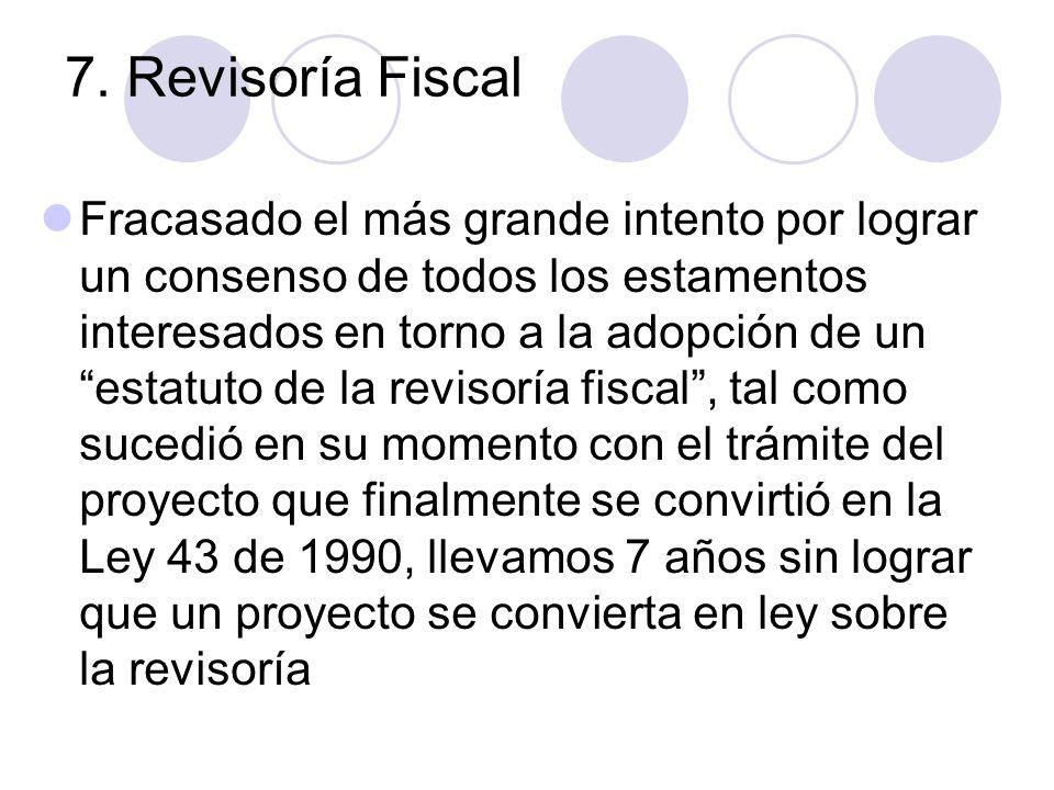 7. Revisoría Fiscal