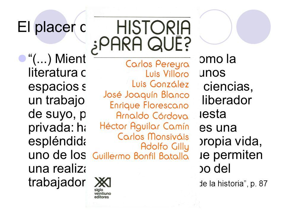 El placer de la Historia