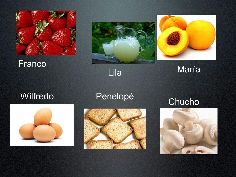 Franco María Lila Wilfredo Penelopé Chucho