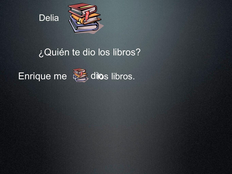 ¿Quién te dio los libros