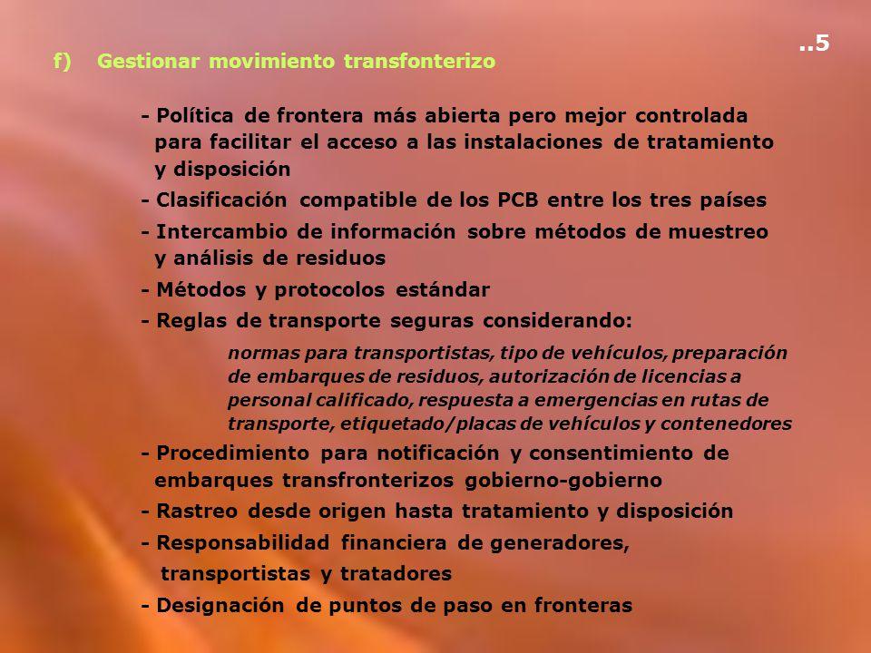 ..5 f) Gestionar movimiento transfonterizo