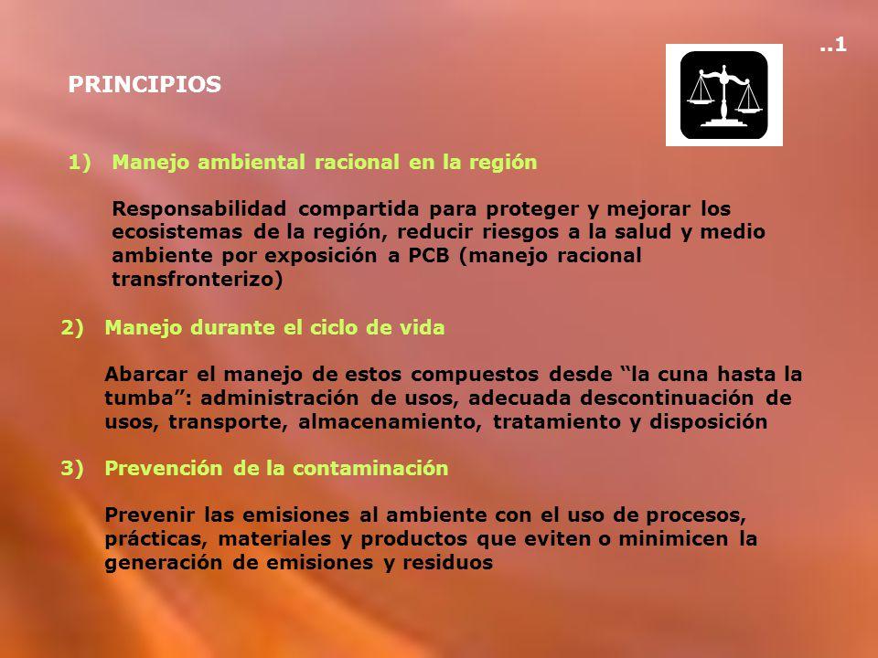 PRINCIPIOS ..1 Manejo ambiental racional en la región