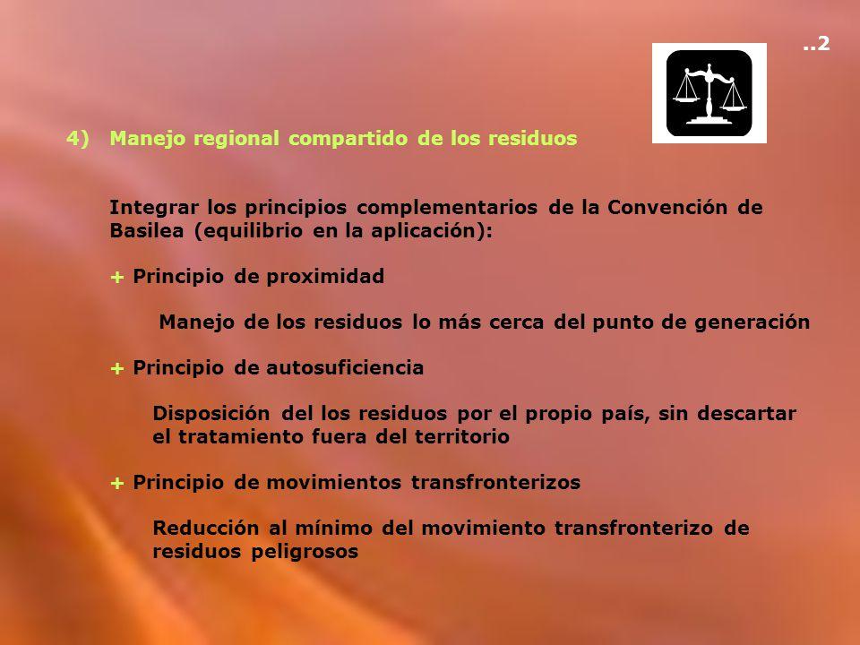 ..2 4) Manejo regional compartido de los residuos.