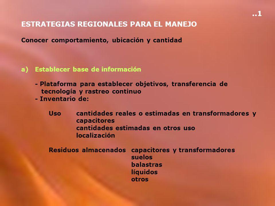 ESTRATEGIAS REGIONALES PARA EL MANEJO
