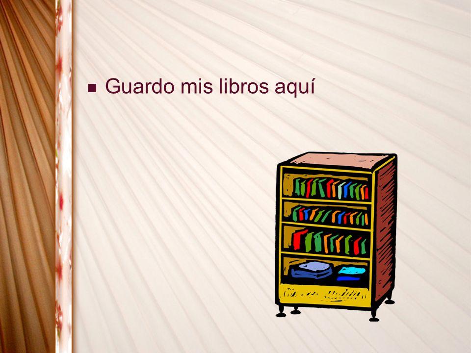 Guardo mis libros aquí