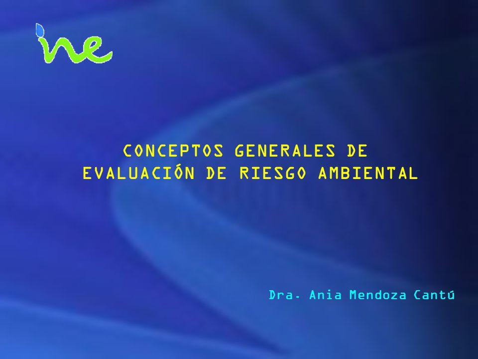 CONCEPTOS GENERALES DE EVALUACIÓN DE RIESGO AMBIENTAL