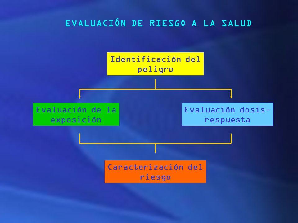 EVALUACIÓN DE RIESGO A LA SALUD
