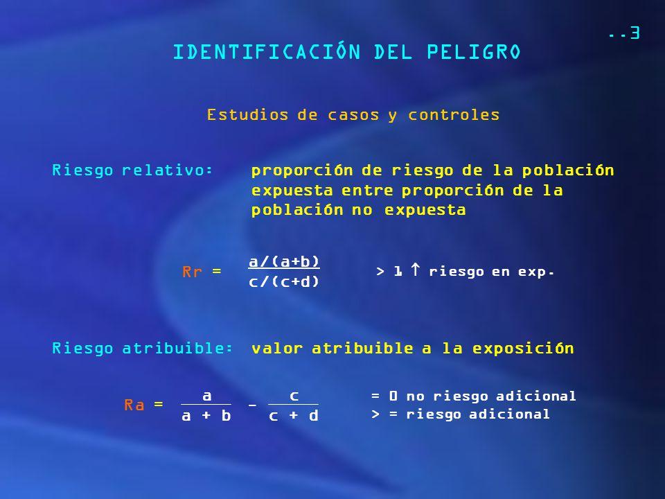 IDENTIFICACIÓN DEL PELIGRO