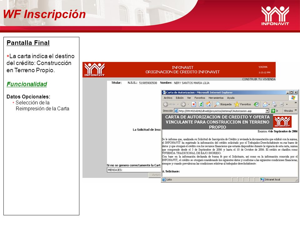 WF Inscripción Pantalla Final