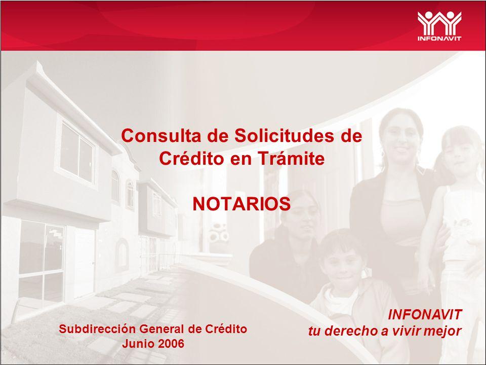 Consulta de Solicitudes de Crédito en Trámite NOTARIOS