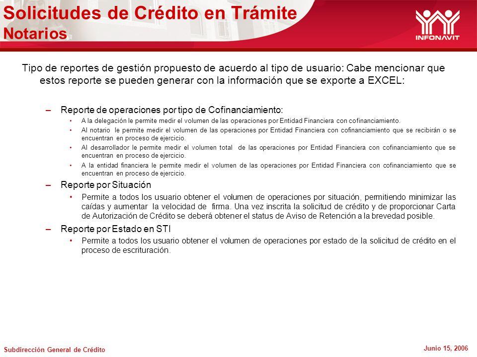 Solicitudes de Crédito en Trámite Notarios