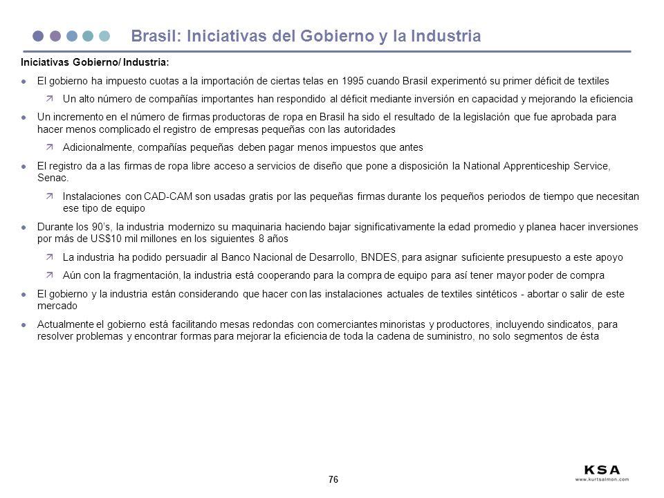 Brasil: Iniciativas del Gobierno y la Industria