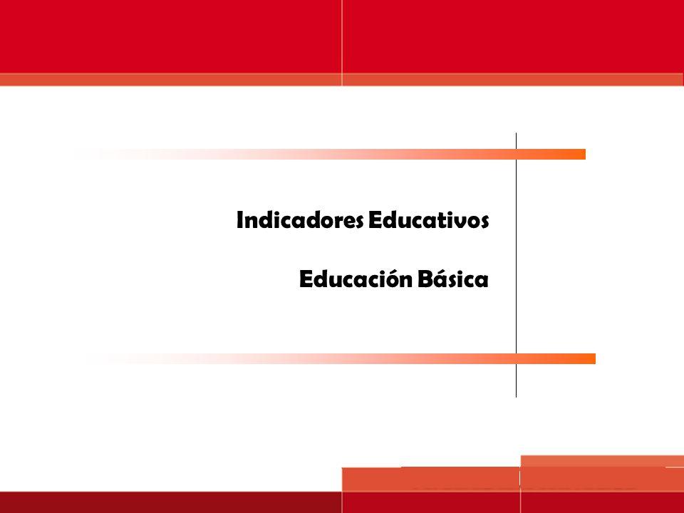 Servicios educativos Indicadores Educativos Educación Básica