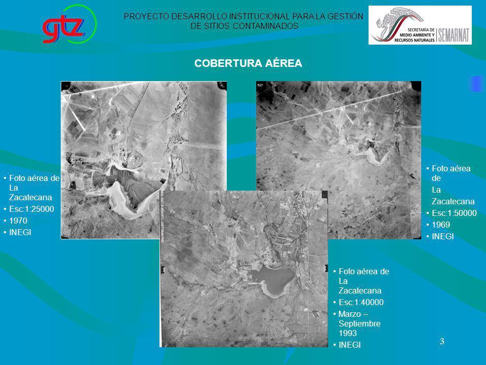 COBERTURA AÉREA PROYECTO DESARROLLO INSTITUCIONAL PARA LA GESTIÓN