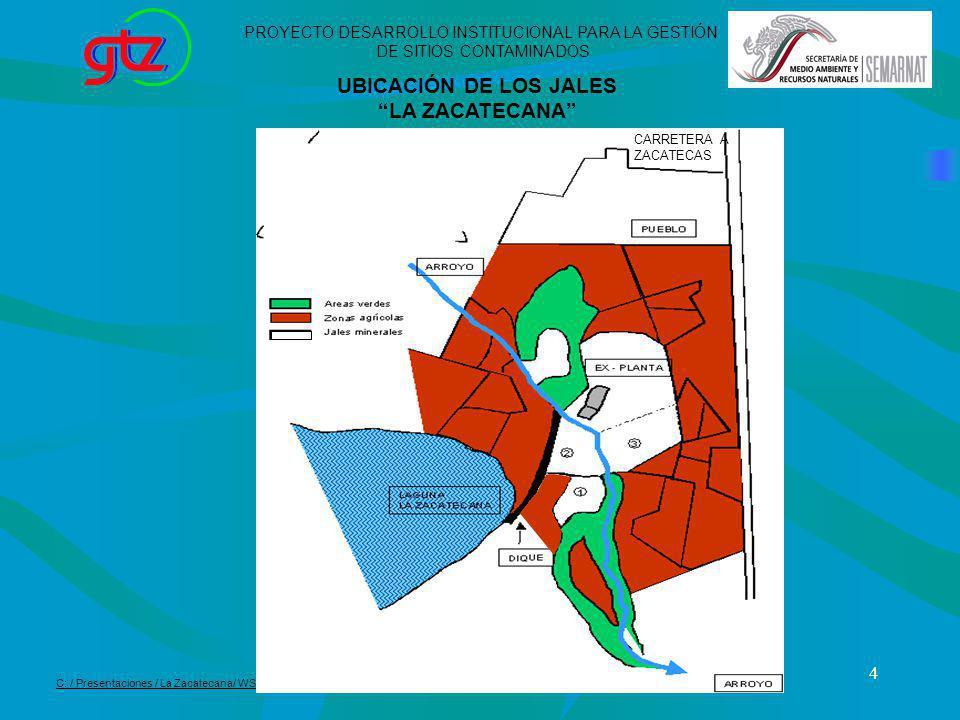UBICACIÓN DE LOS JALES LA ZACATECANA