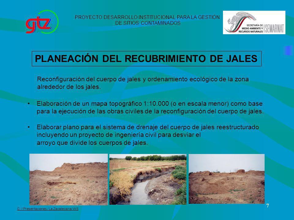 PLANEACIÓN DEL RECUBRIMIENTO DE JALES