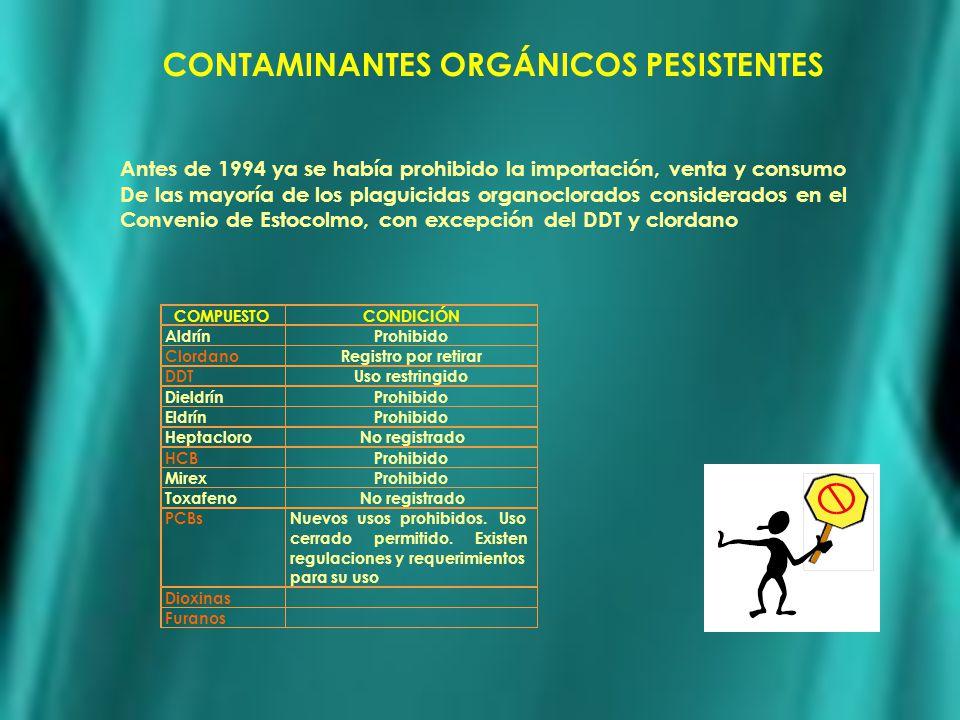 CONTAMINANTES ORGÁNICOS PESISTENTES