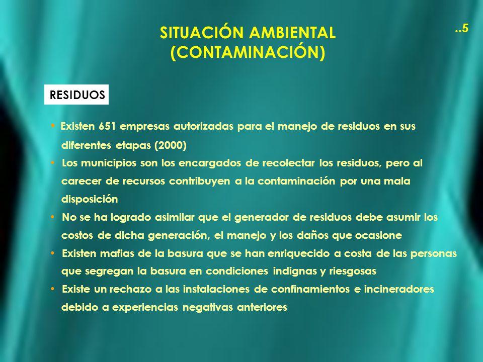 SITUACIÓN AMBIENTAL (CONTAMINACIÓN)