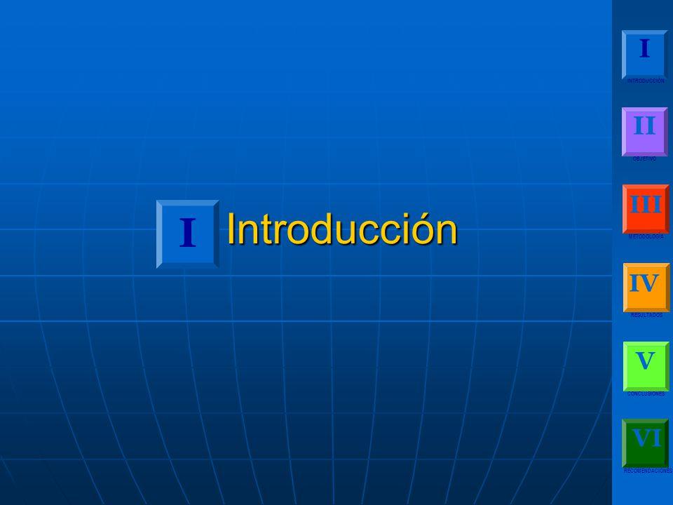 Introducción I I II III IV V VI INTRODUCCIÓN OBJETIVO METODOLOGÍA