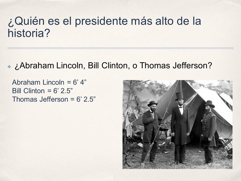 ¿Quién es el presidente más alto de la historia