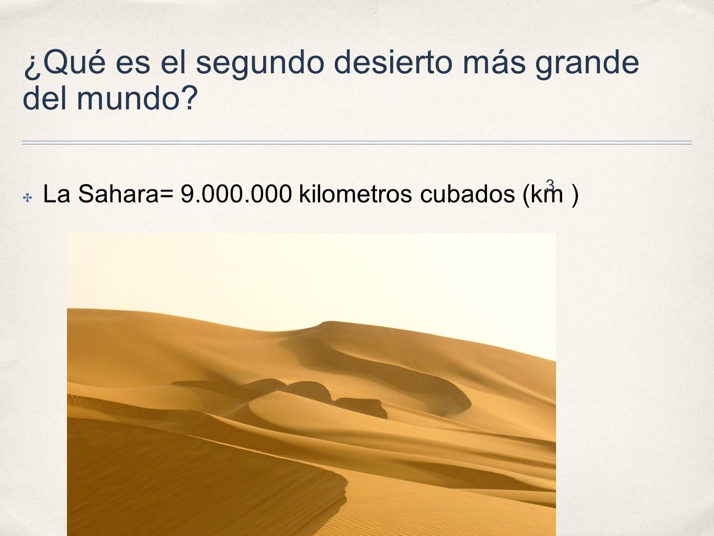 ¿Qué es el segundo desierto más grande del mundo