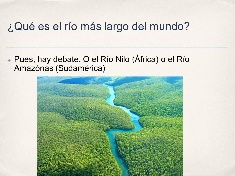 ¿Qué es el río más largo del mundo