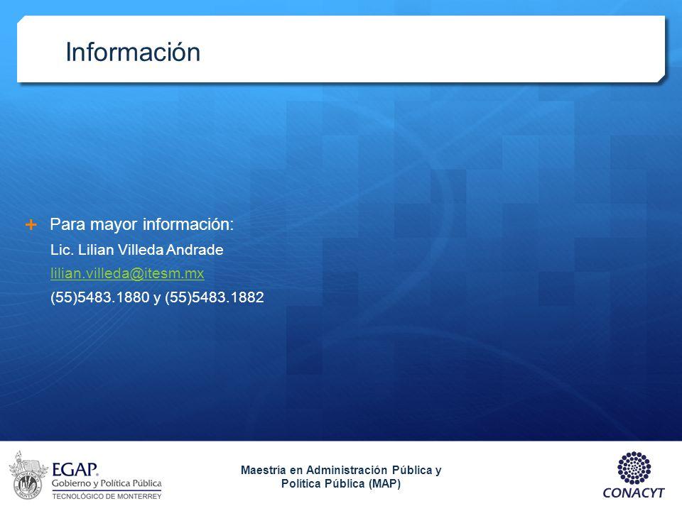 Maestría en Administración Pública y Política Pública (MAP)