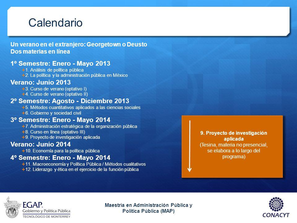 Calendario 1º Semestre: Enero - Mayo 2013 Verano: Junio 2013