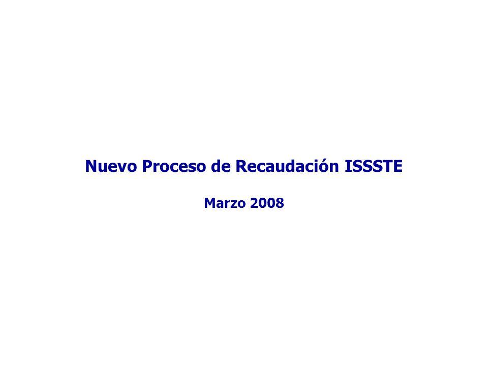 Nuevo Proceso de Recaudación ISSSTE