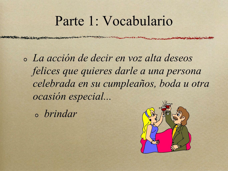 Parte 1: Vocabulario