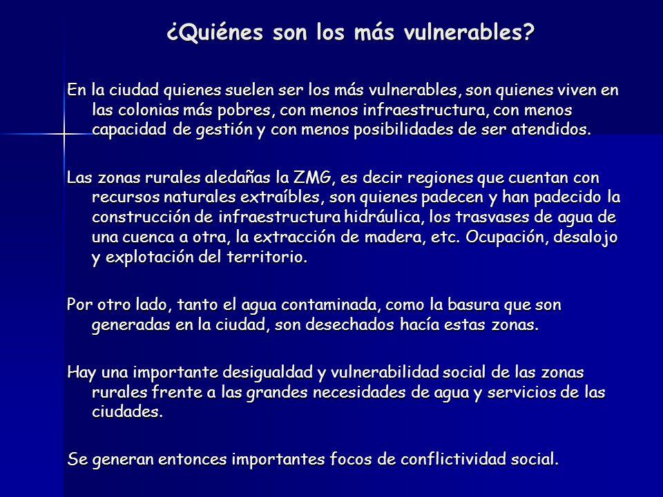 ¿Quiénes son los más vulnerables