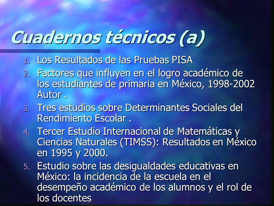 Cuadernos técnicos (a)