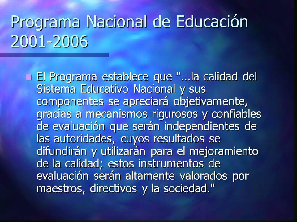 Programa Nacional de Educación 2001-2006