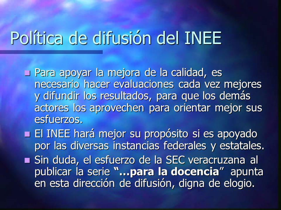 Política de difusión del INEE