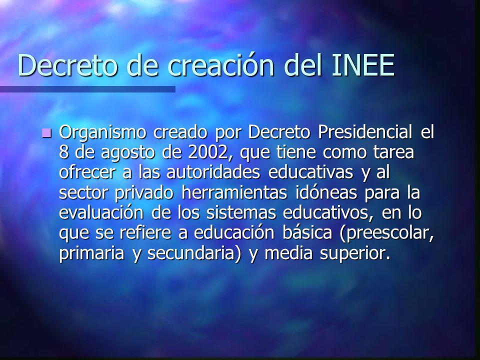 Decreto de creación del INEE